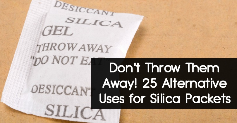 Don't Throw Them Away! 25 Alternative Uses for Silica Packets