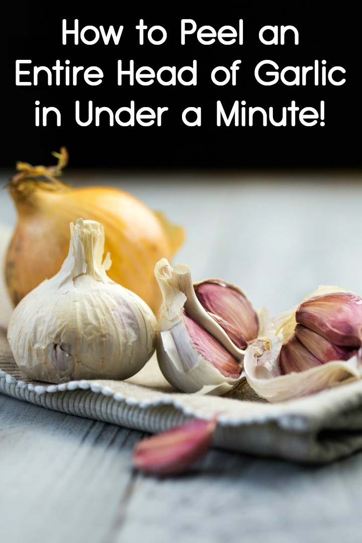 How to Peel an Entire Head of Garlic in Under a Minute! ~