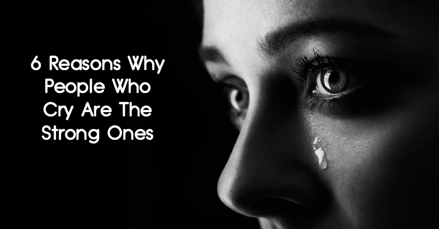 person who cries easily